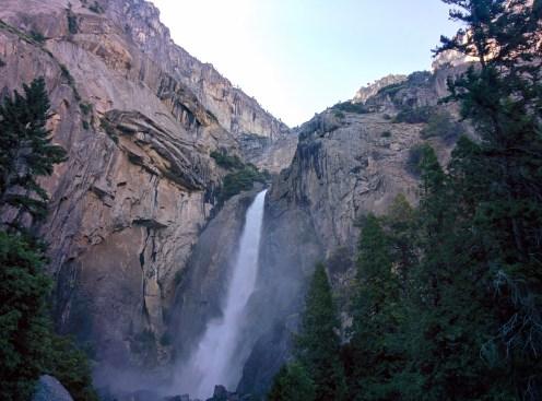 A view of Lower Yosemite Falls.