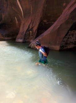Trying to keep my things dry in the Narrows.