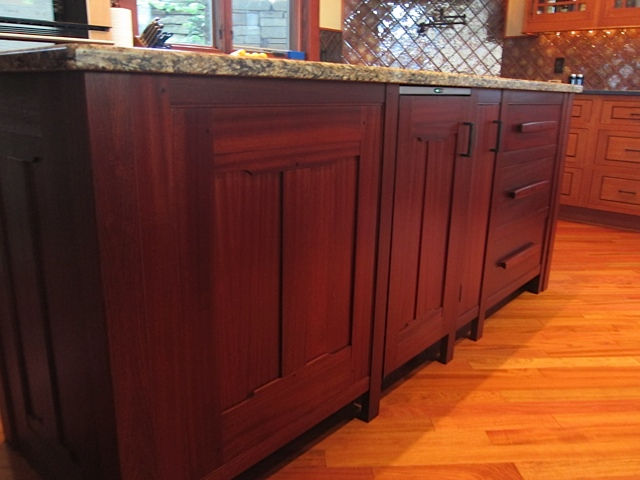 kitchen cabinets wood hickory greene & islands - selkirk craftsman ...