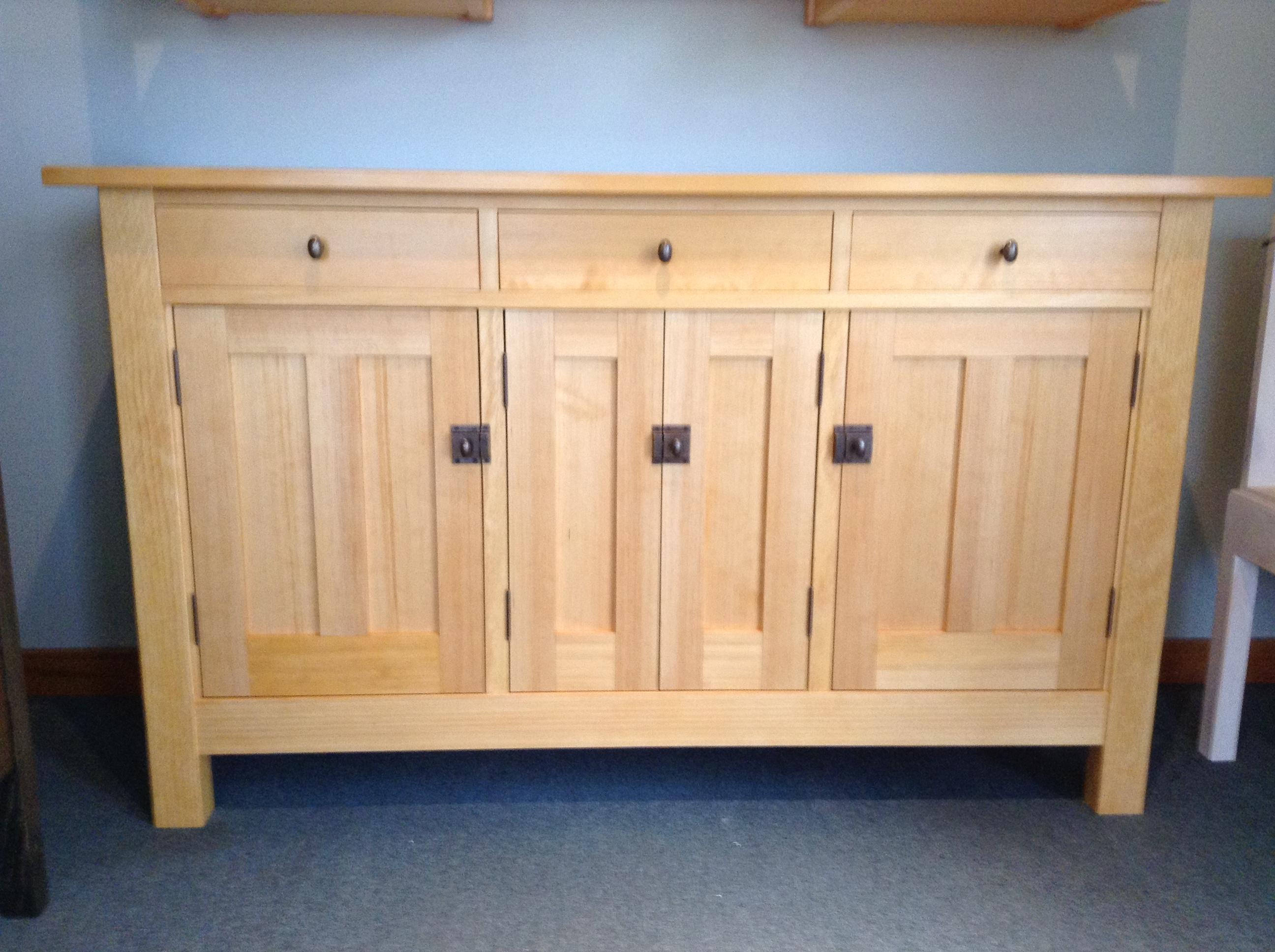 pine kitchen bench duck egg blue wall tiles arts & crafts in white - selkirk craftsman furniture ...