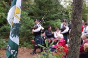The pipers lead in the family.