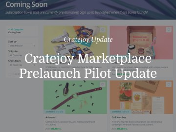 Cratejoy Marketplace Prelaunch Update