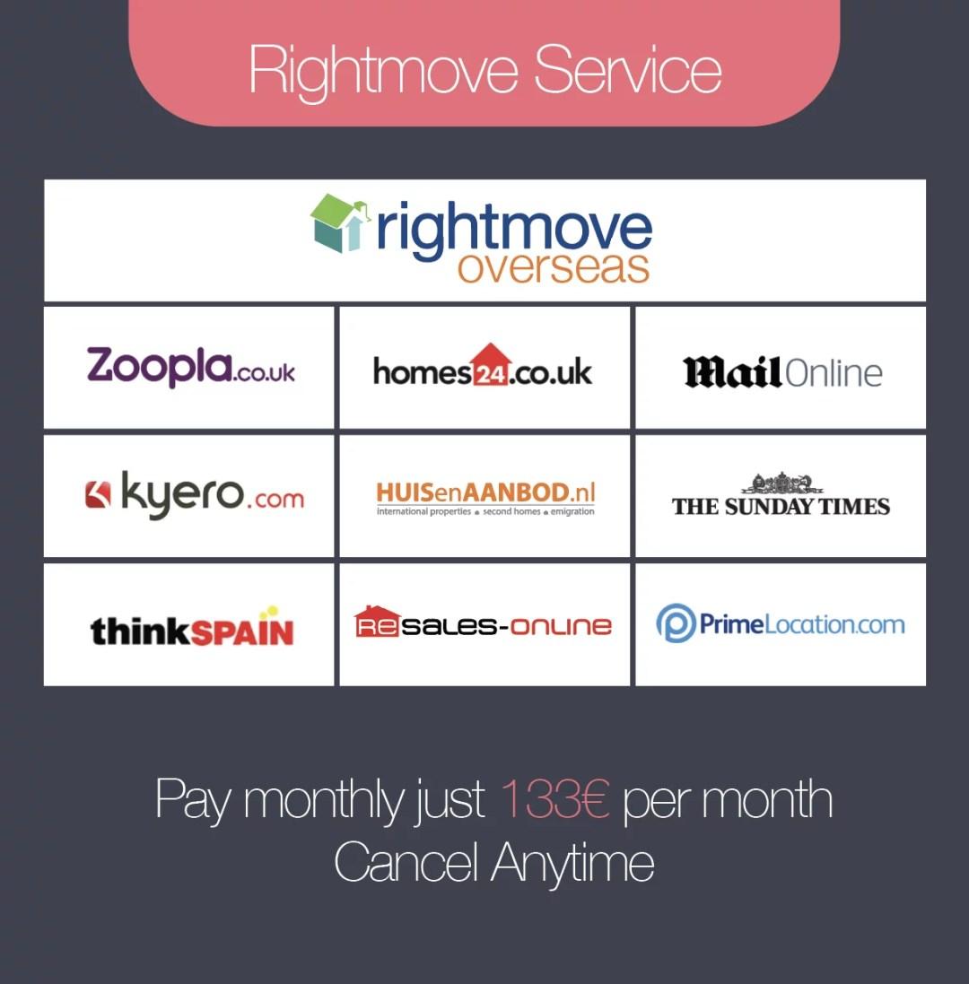 Rightmove Overseas Service - Monthly