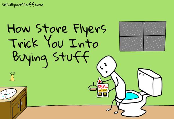 how store flyers trick you by sellallyourstuff.com
