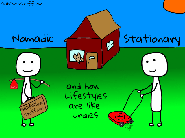 nomadic lifestyle versus stationary lifestyle