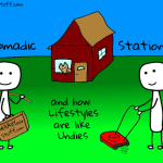 Is a Nomadic Lifestyle Better than a Stationary Lifestyle?