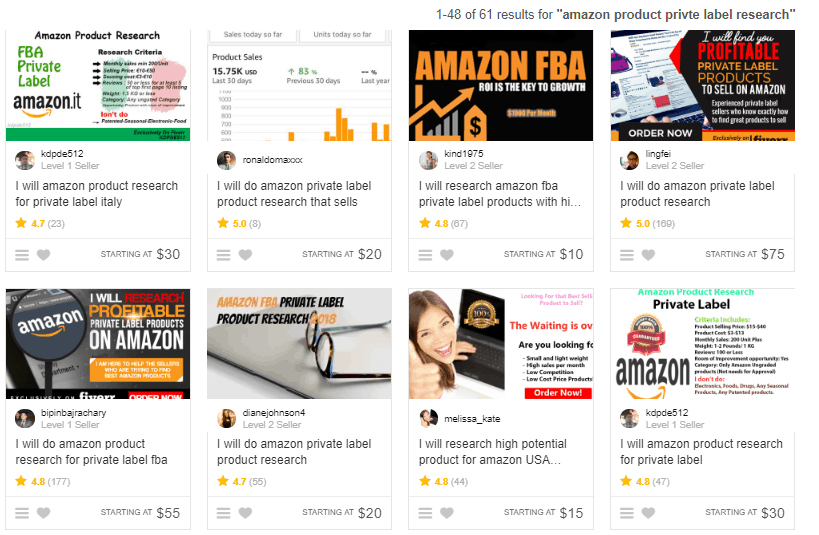 amazon product research fiverr