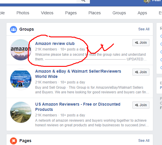 facebook amazon review group