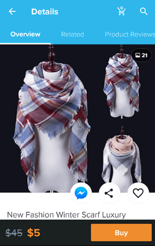 wish app scarf