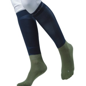 Chaussettes Pimo Flags and Cup Bleu Marine Vert Olive En Cadence