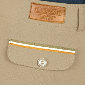 Pantalon Homme Lorenzo Flags and Cup Beige Sable En Cadence
