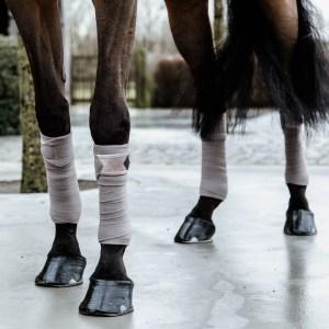 Kentucky Horsewear Bandes Polo Polaire Basic Velvet Beige En Cadence