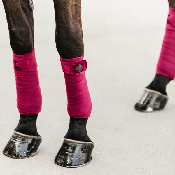 Kentucky Horsewear Bandes Polo Polaire Velvet Fuschia En Cadence