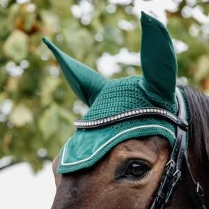 Kentucky Horsewear Bonnet Velvet Vert Sapin En Cadence