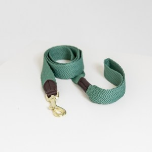 Laisse Chien Jacquard 140cm Vert Olive Kentucky Dogwear