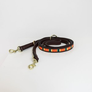 Laisse chien Kentucky Dogwear Perles Azteque Orange Pure Horsewear