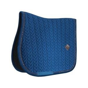 Sellerie En Cadence Montfort L'Amaury Kentucky Tapis Velvet Pearls Jumping Bleu Marine Cheval