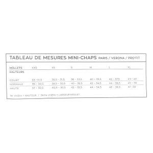 Rectiligne Tableau de Taille Mini Chaps