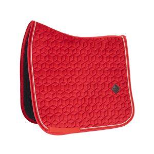 Kentucky Horsewear Tapis Velvet Dressage Rouge En Cadence