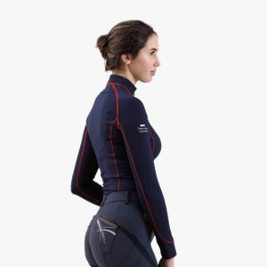 Premier Equine Base Layer Oletta Marine Manches Longues Cross