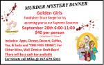 Sept 28th Murder Mystery Dinner