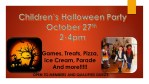 Kids Halloween Party October 27th