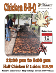 Sellersville Moose Legion Chicken BBQ October 19th 12pm to 6pm