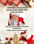 Mystery gift raffle December 8th 9:30 AM