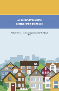 A Homeowner's Guide to Foreclosure in California