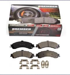 details about ceramic brake pads rear for gmc sierra yukon yukon xl 1500 2002 2007 [ 1004 x 876 Pixel ]