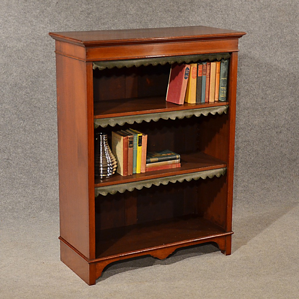 Antique Bookcase Display Library Book Cabinet English