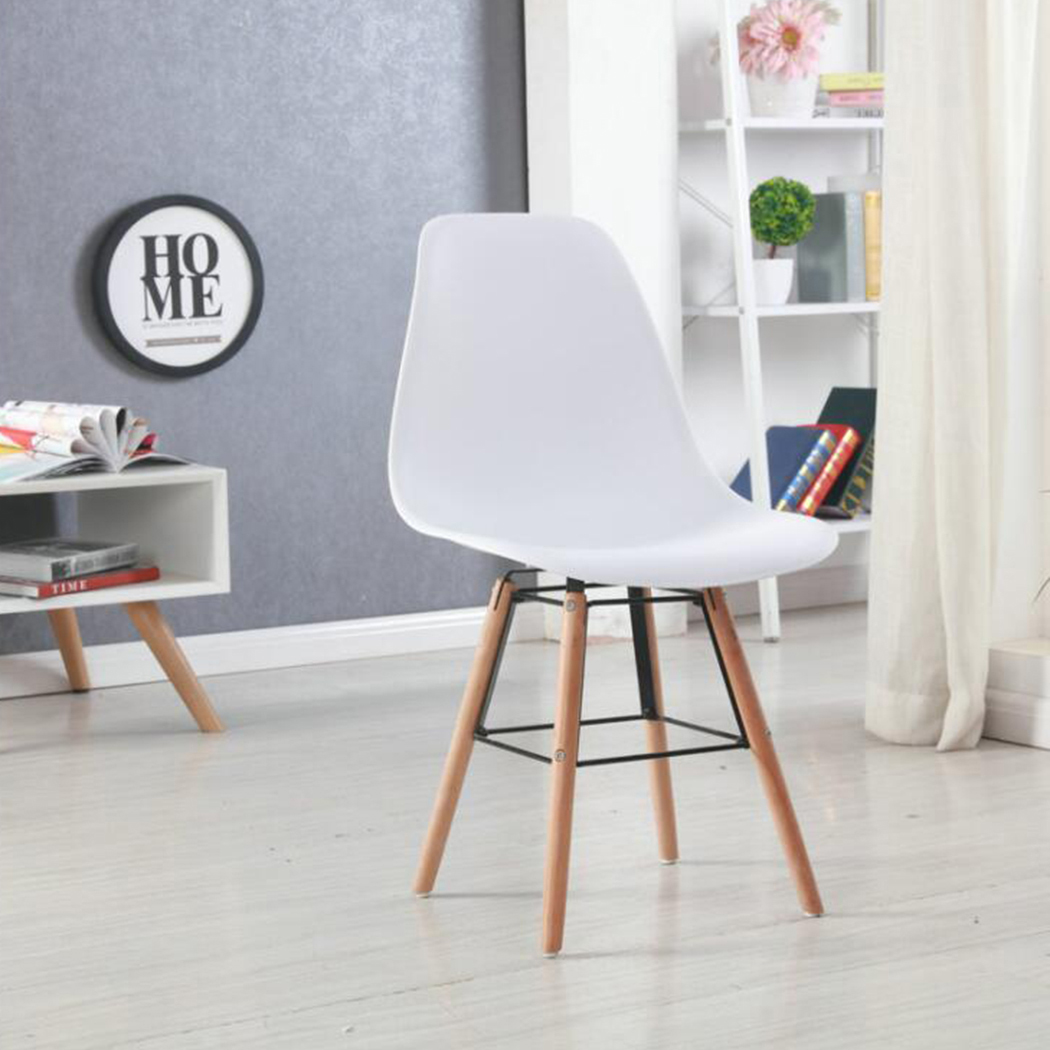retro cafe dining chairs chair back covers for bar stools 4 x replica eames eiffel dsw