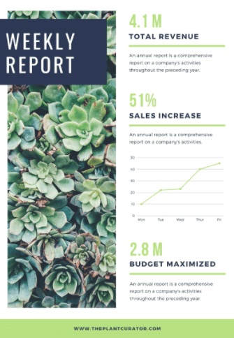 Example weekly sales report template