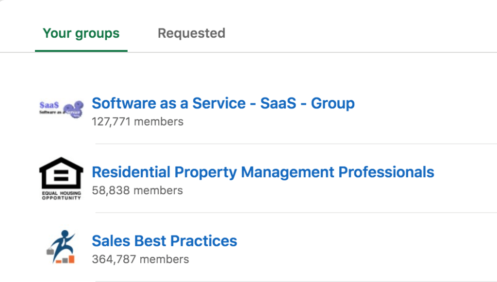 Join relevant groups