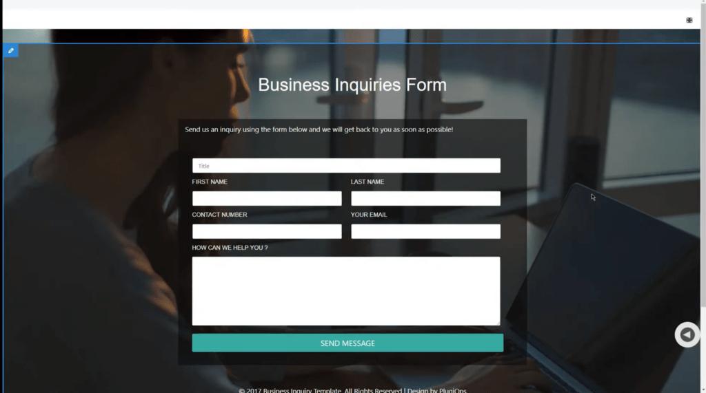 PluginOps Landing Page Builder