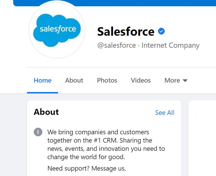 Example Facebook business description
