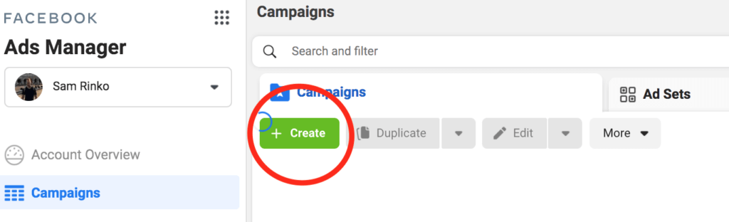 create ads manager