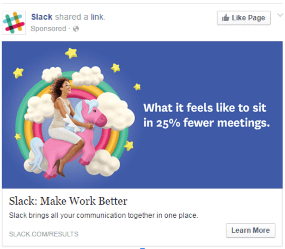 humorous facebok lead ad
