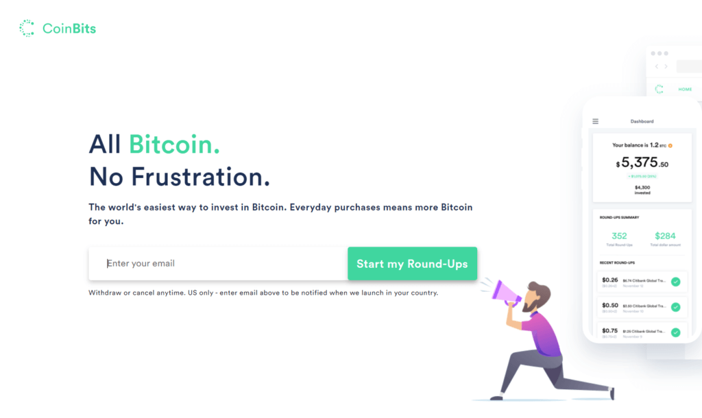 CoinBits Homepage