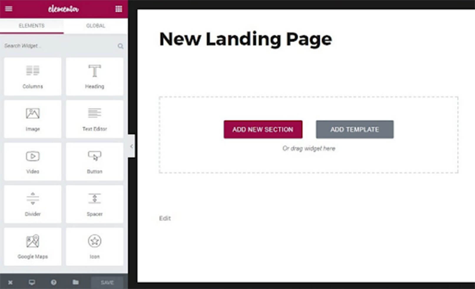 Landing Page Builder example