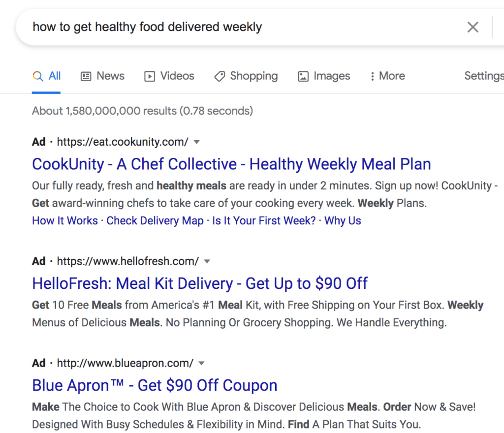 Example of PPC Ads