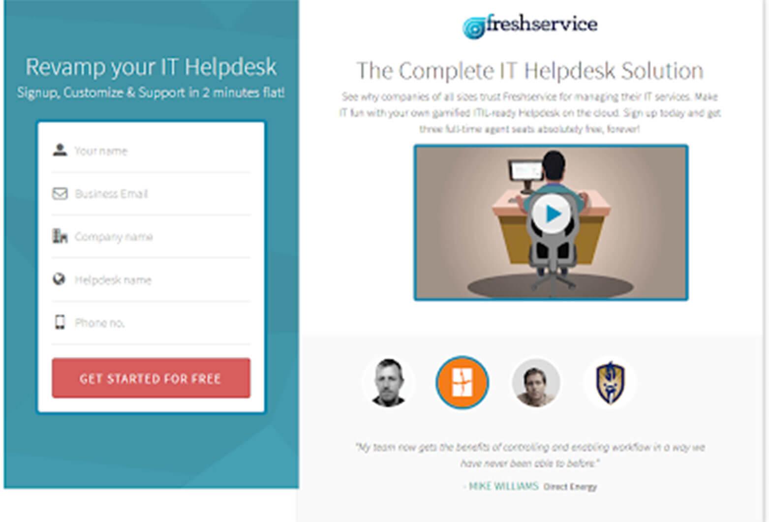 Lead Generation Website example