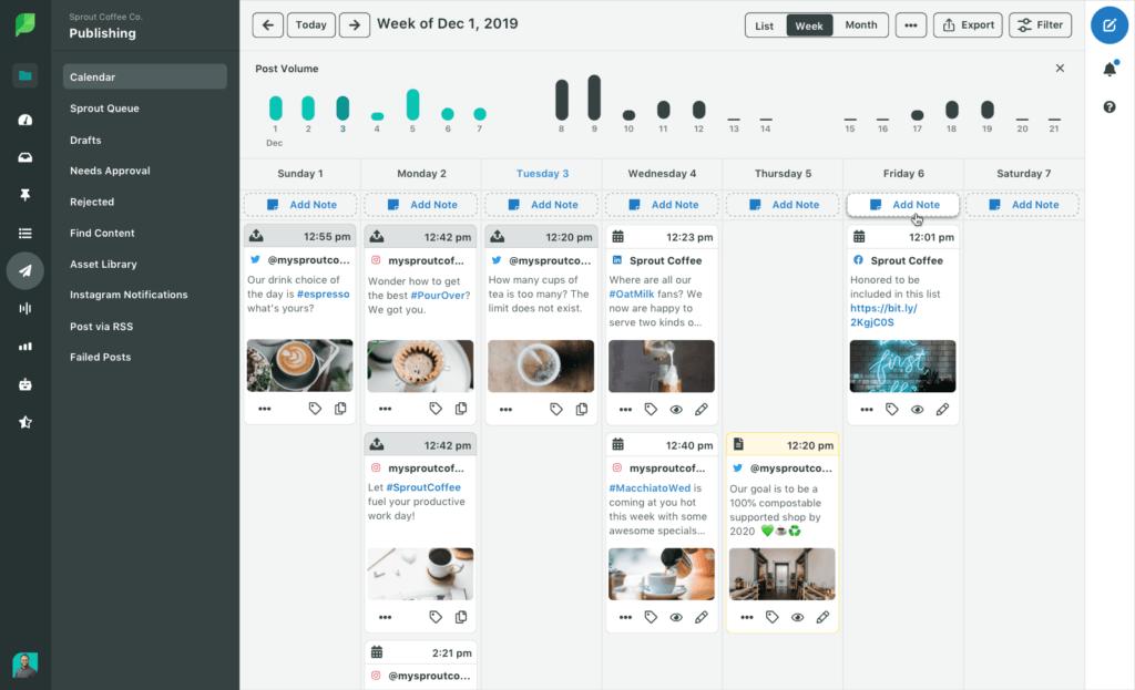 SproutSocial social crm sample interface