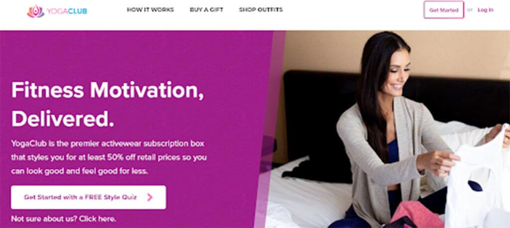 YogaClub homepage