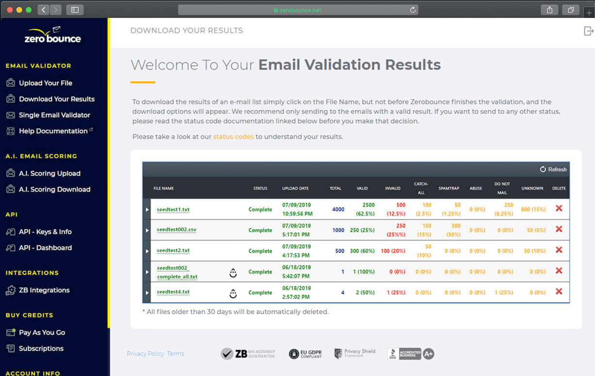Email Verification Software example