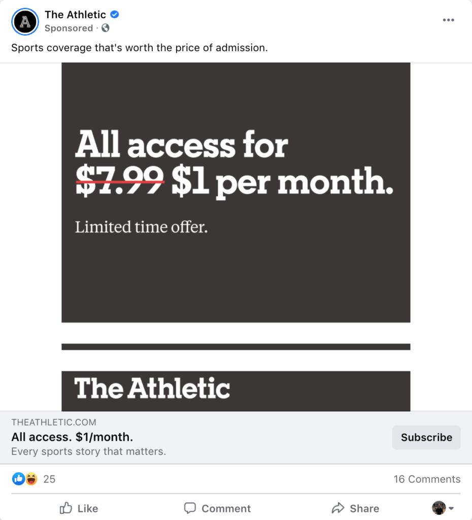 Example Facebook ad