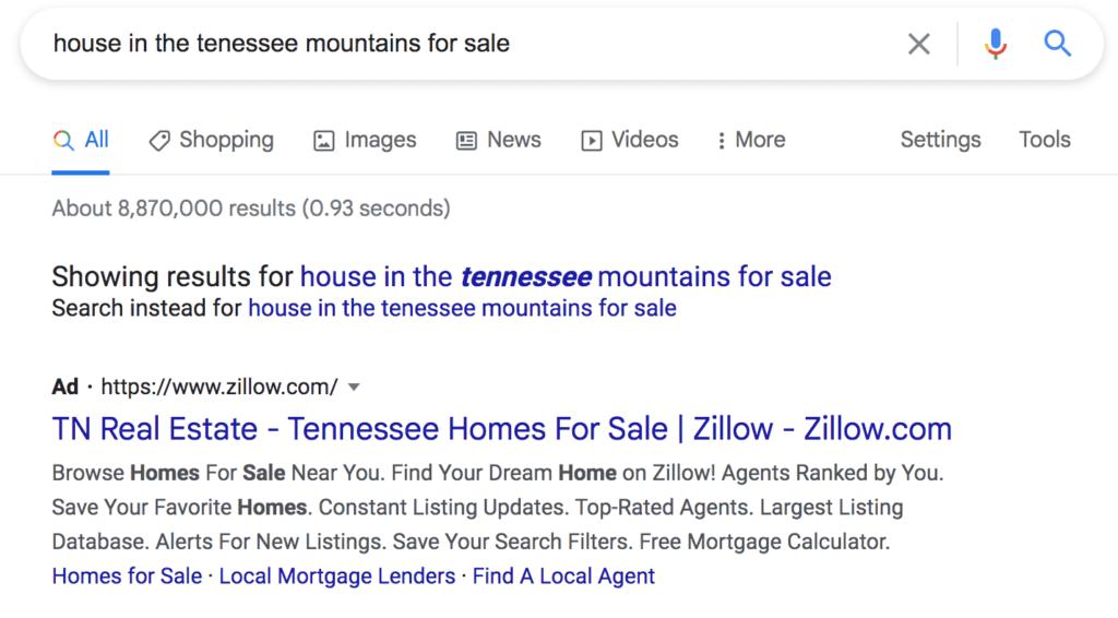 Example PPC Google ad