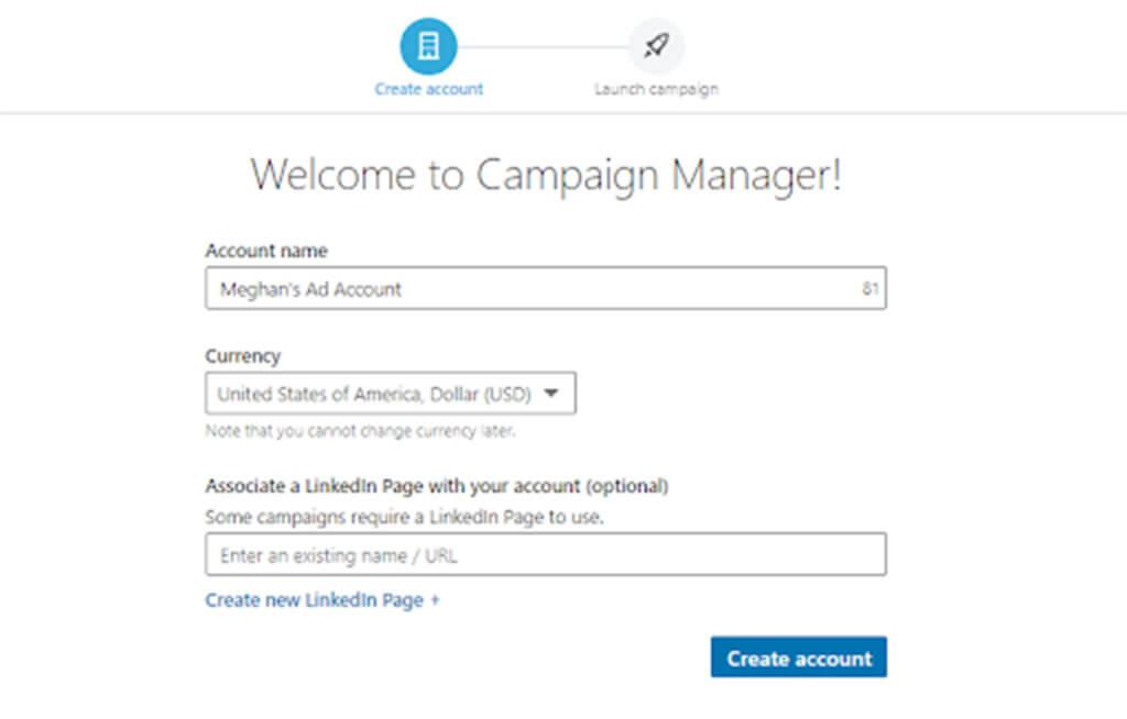 Example create account