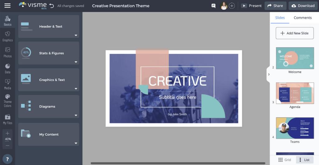 Visme Free Presentation Software