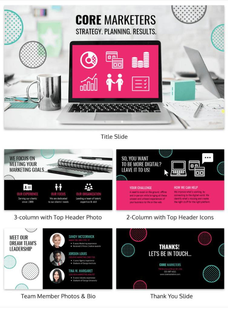 Creative agency sales deck template